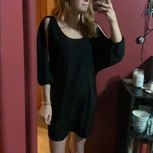 Express Black Cold Shoulder Dress